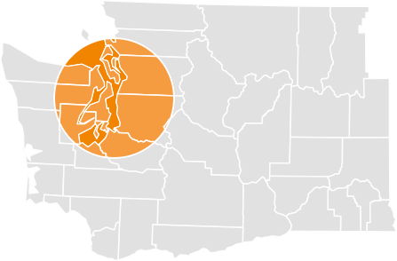 New System Seattle Area Map